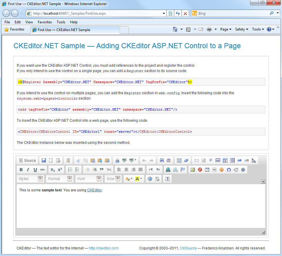 CKEditor for ASP NET Released!